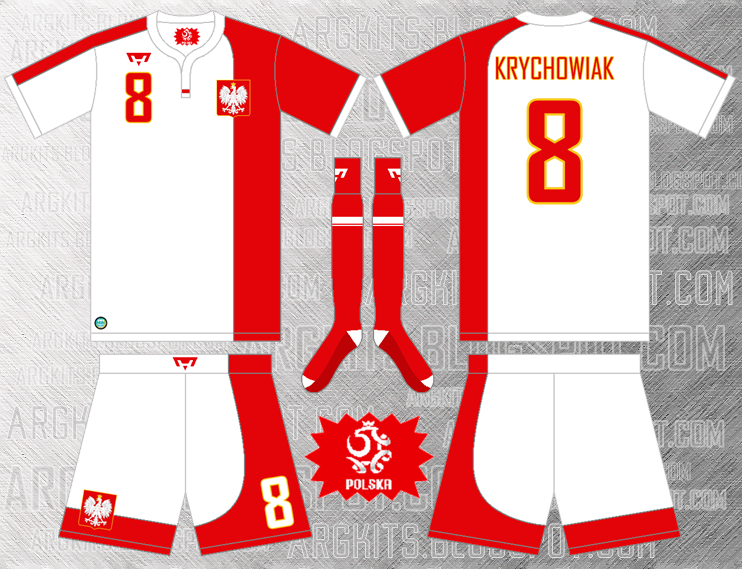 huge discount 9aced cab2b Poland National Team - Home Fantasy Kit