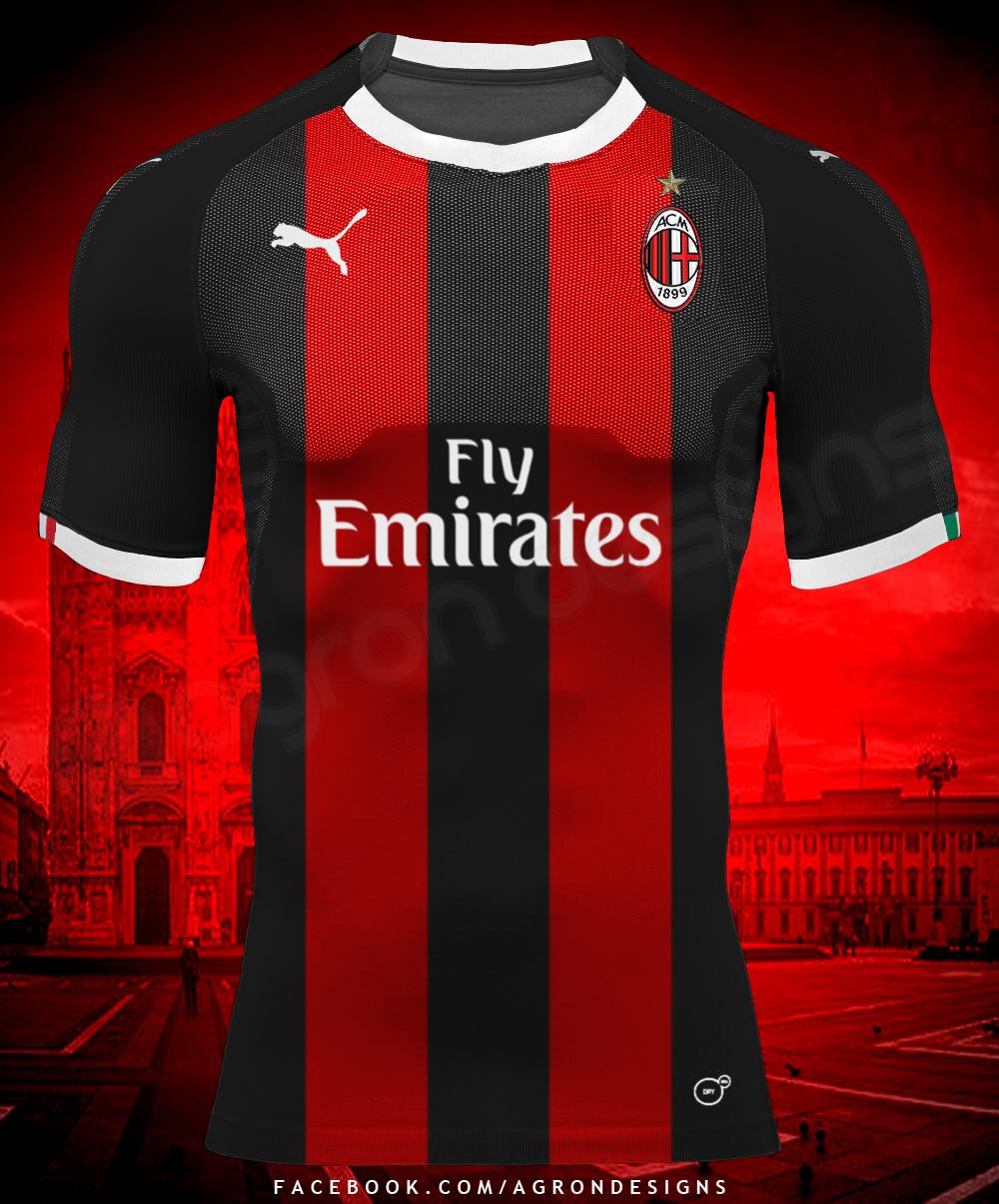 e5d54b5f9 Puma Ac Milan 2018-19 Home Kit Concept