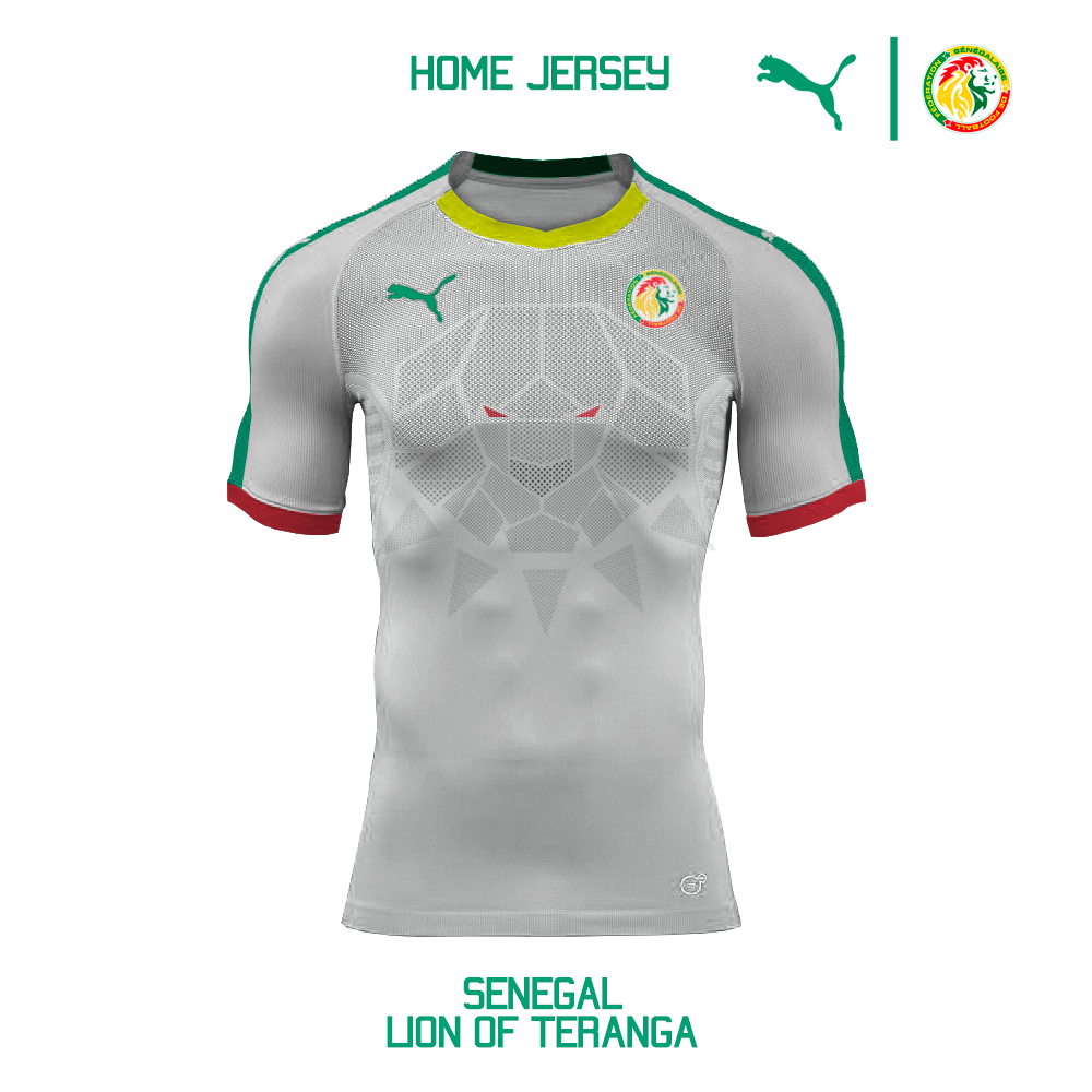 1437c15a122 Puma Senegal National Team Home Jersey Concept