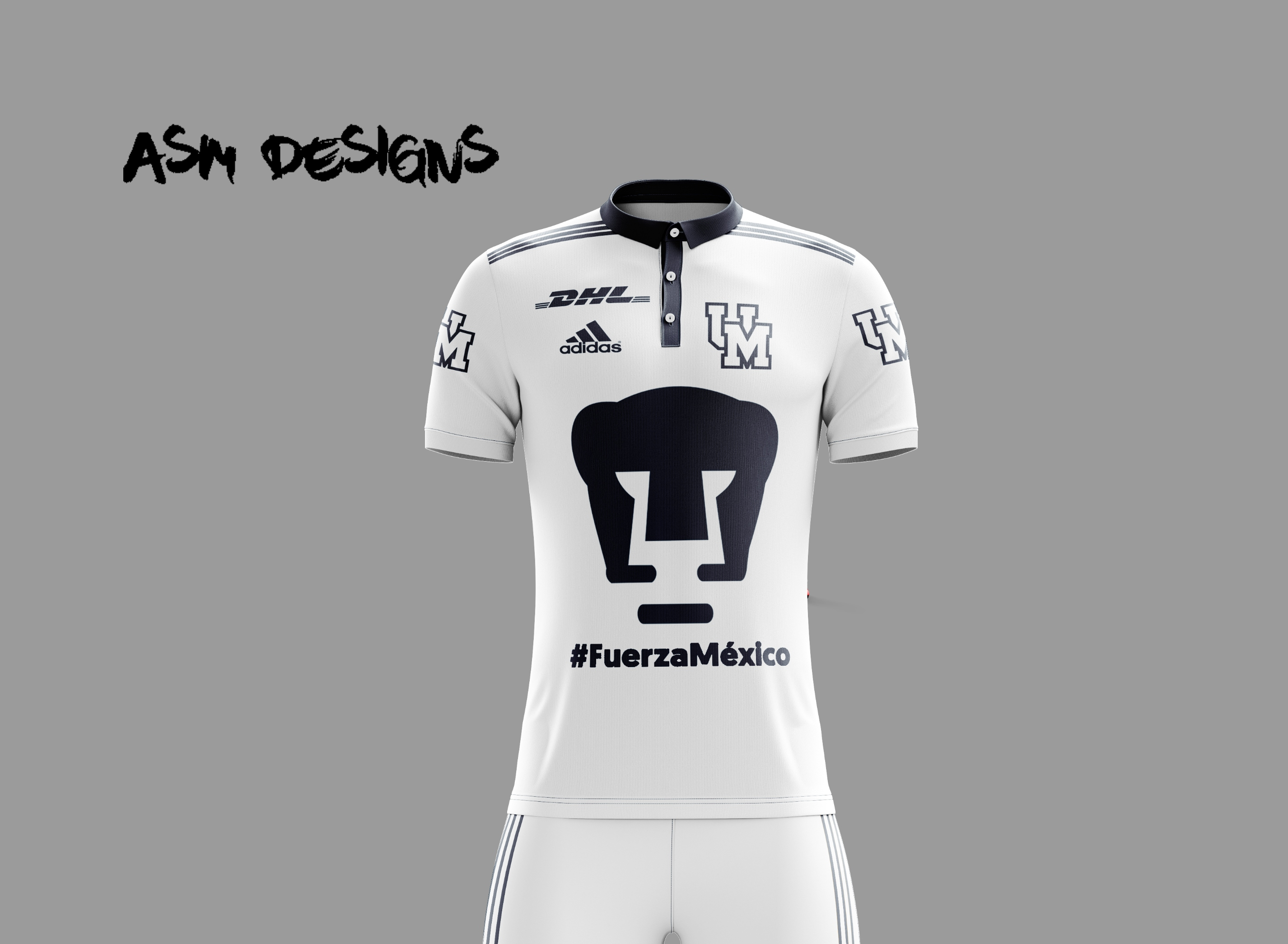 buy popular dba6b 098a4 Pumas UNAM Adidas 2018 Alternate Kit