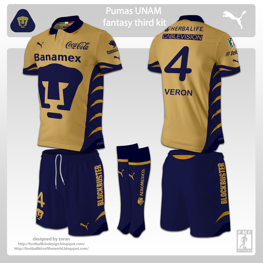 detailed look 202c1 8c006 Pumas UNAM fantasy kits