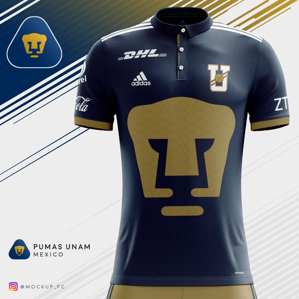 buy popular d9d5b 69fa3 Pumas UNAM x Adidas - Home Kit