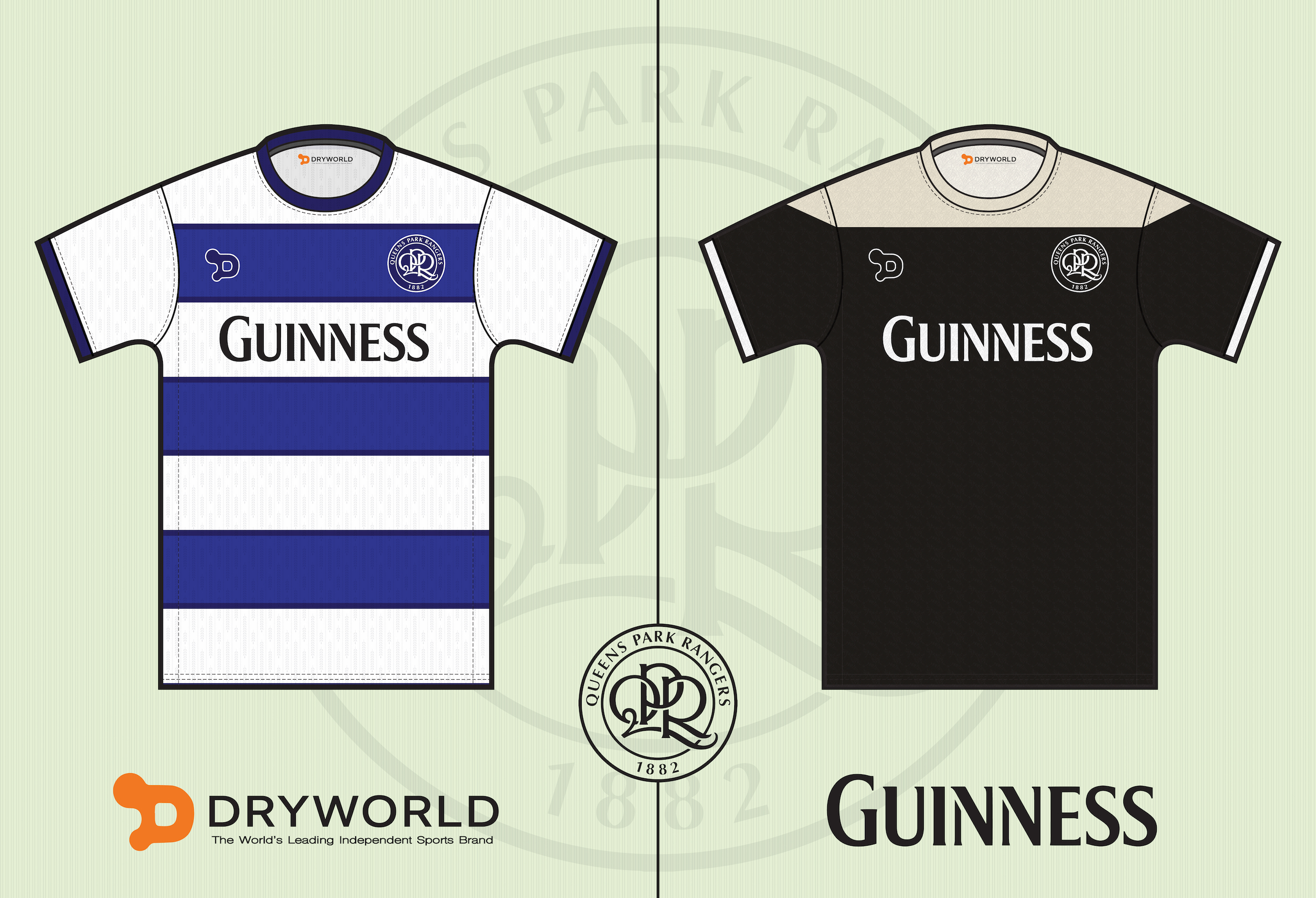size 40 d032a 669ef QPR Home / Away Shirt
