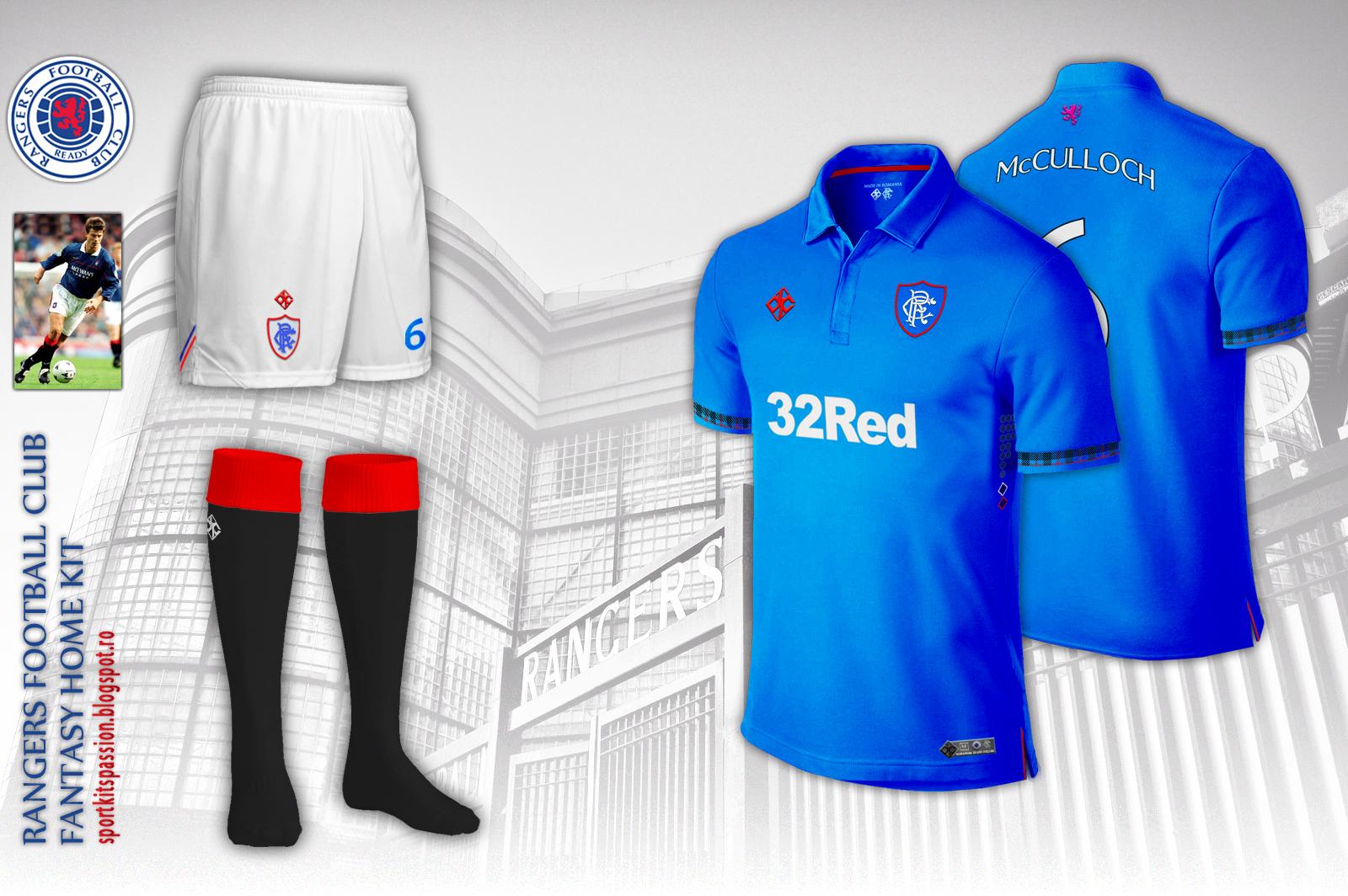 size 40 6e111 86d2b Rangers FC fantasy kit