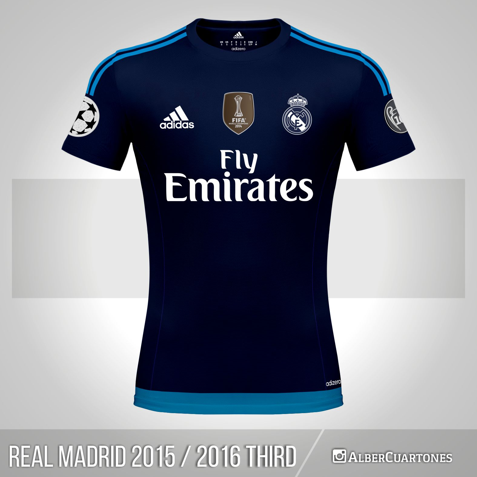 sports shoes 135a3 2ebf2 Real Madrid 2015 / 2016 Third Shirt (according to leaks)