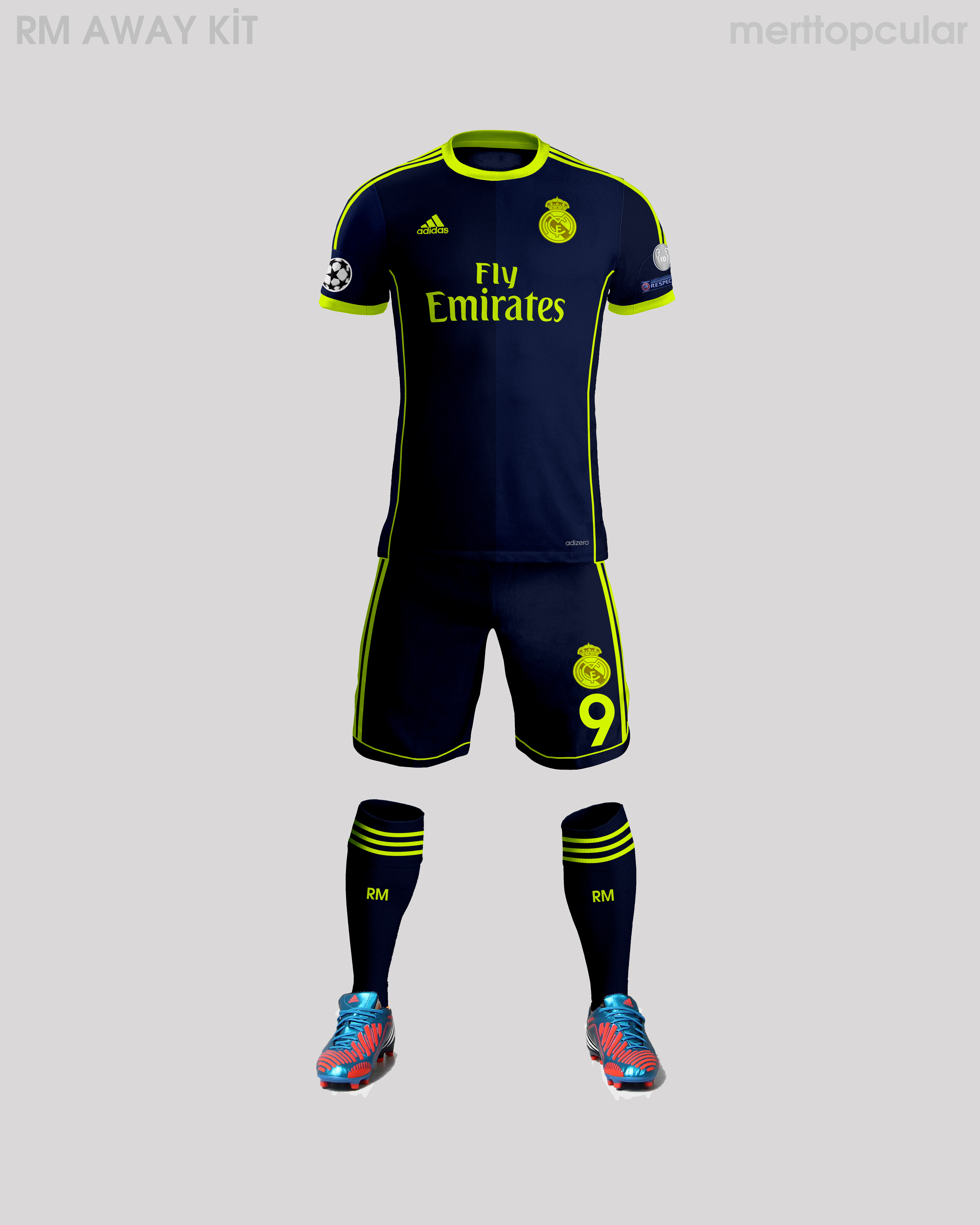 finest selection 2f0ed 6a96f Real Madrid Away Kit