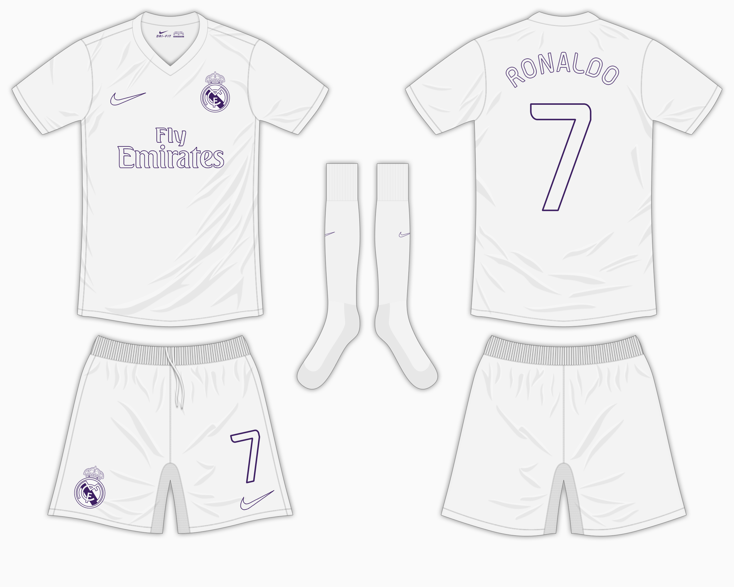 648db6aa655 Real Madrid Home Kit - Nike