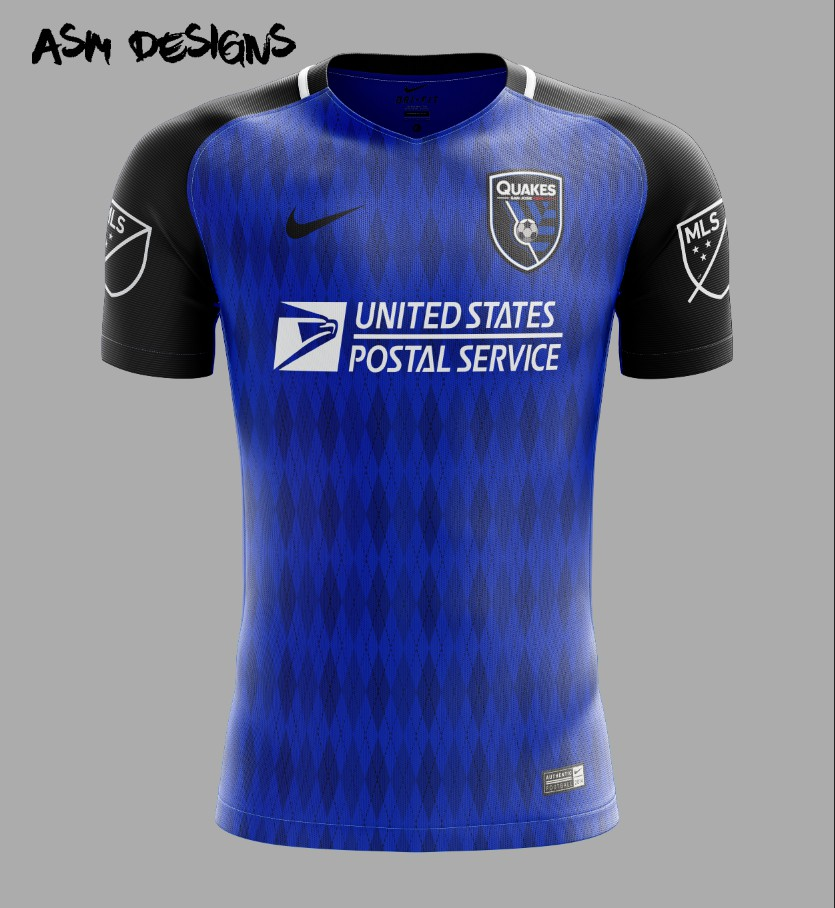 timeless design 326ea 079f6 San Jose Earthquakes Nike 2018 Home Kit