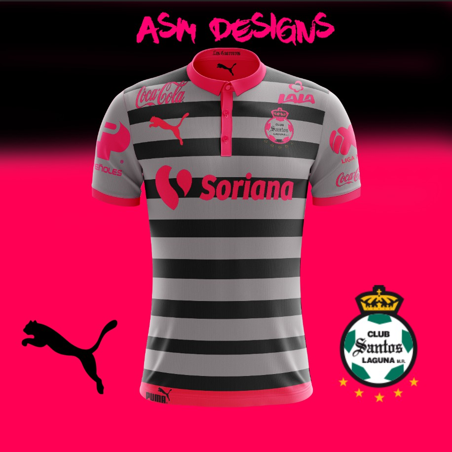 online retailer d737b d4eff Santos Laguna 2018 Puma Away kit