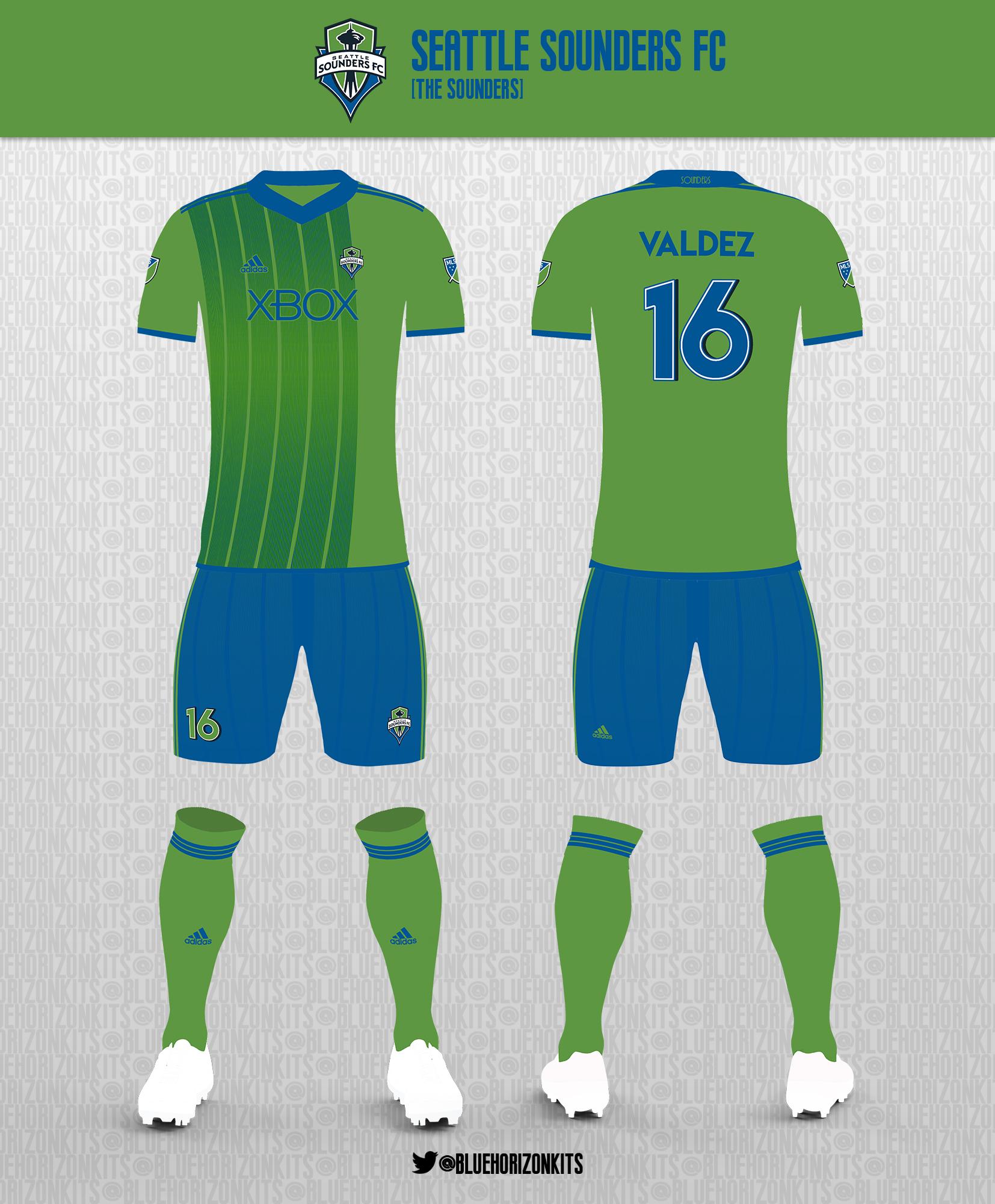 online store 0d798 853e9 Seattle Sounders Home Kit