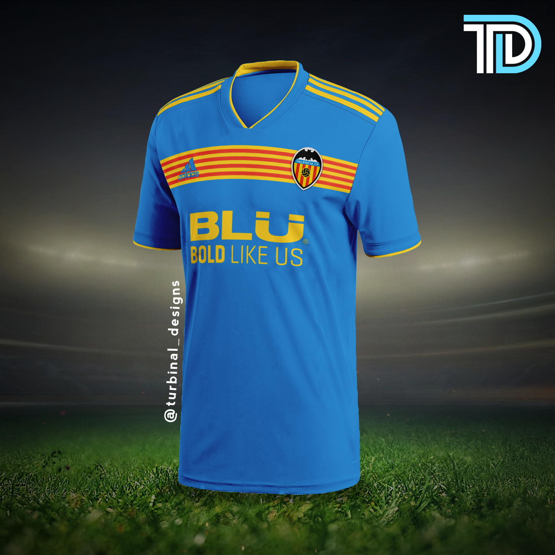 buy online 5d88a 2d5a0 Valencia CF Third Kit Concept