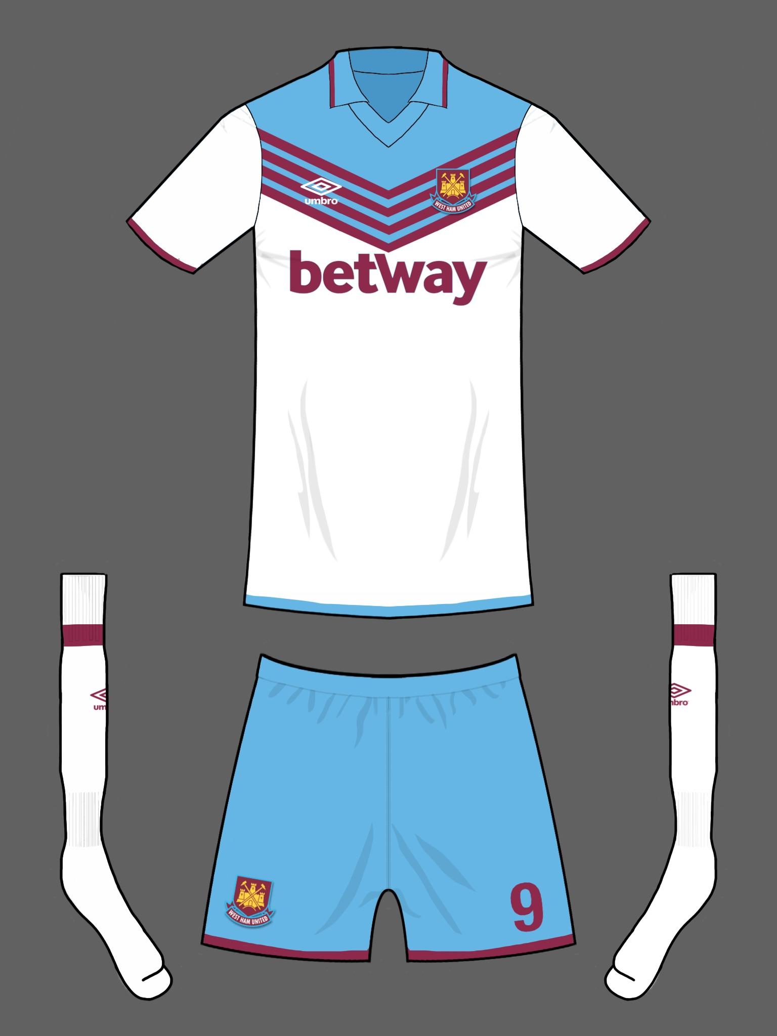 quality design e0dbe 2d950 West Ham away kit