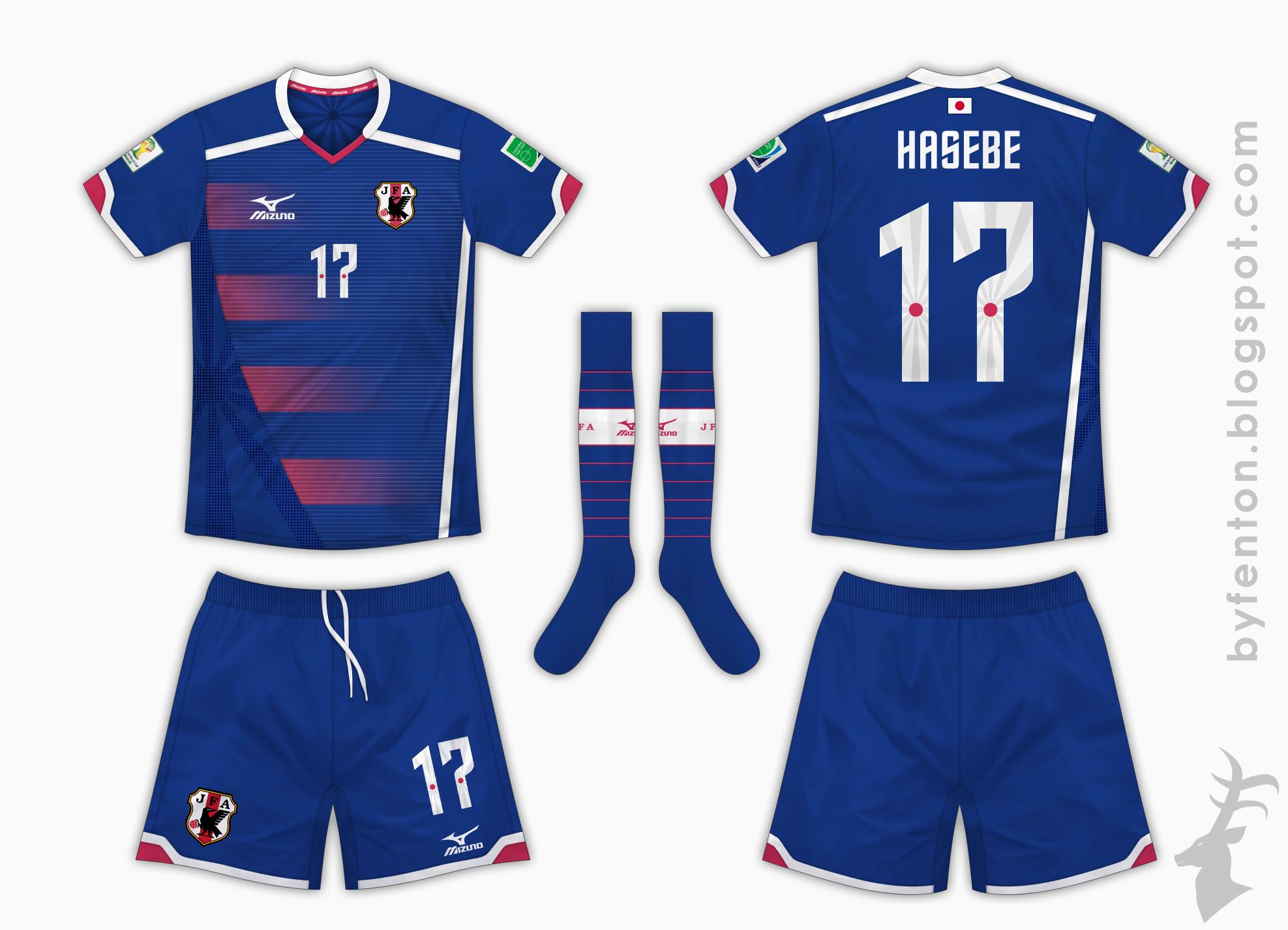 1ca9c8af8ff World Cup Comp - Japan Home Kit - Mizuno