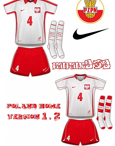 poland home nike version 1 and 2