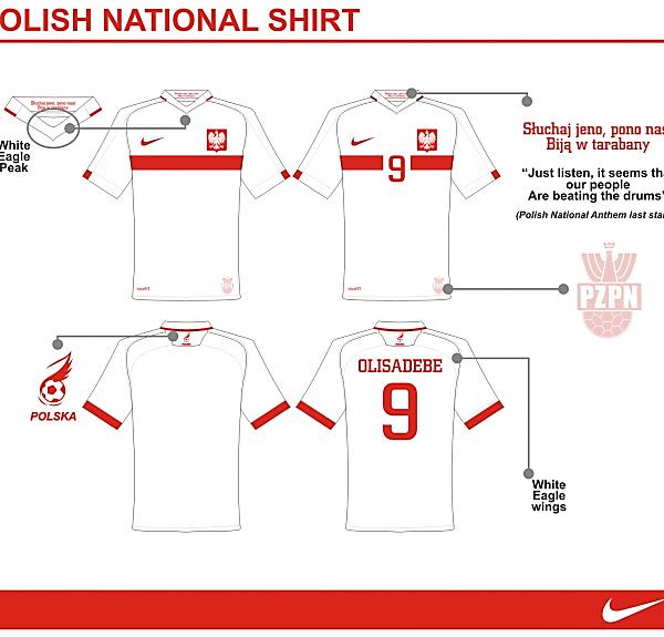 Poland National Shirt by Nike