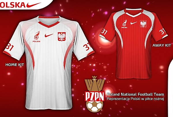 Poland Nike Home/Away Kit Design by Qugeist