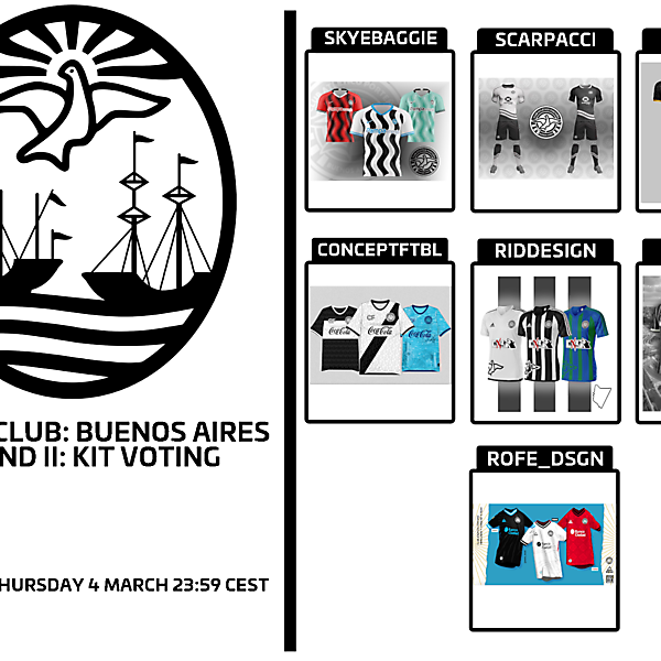 1 CITY 1 CLUB - BUENOS AIRES - PART II - KIT VOTING