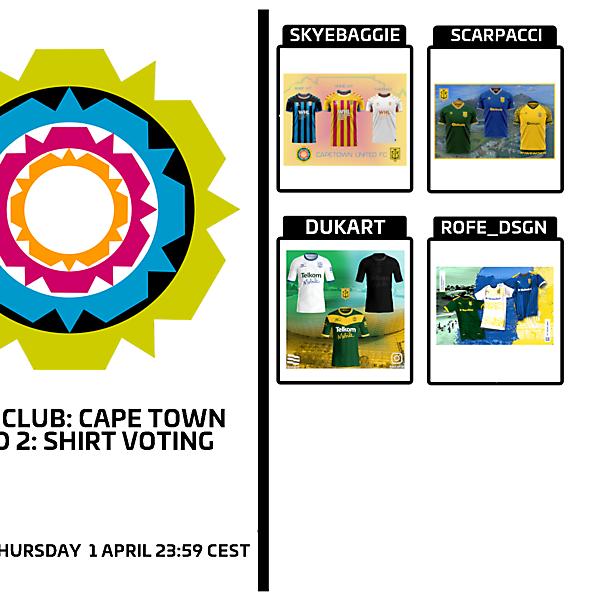 1 CITY 1 CLUB - CAPE TOWN - PART II - KIT VOTING
