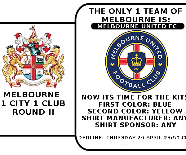 1 CITY 1 CLUB - MELBOURNE - PART II - KITS