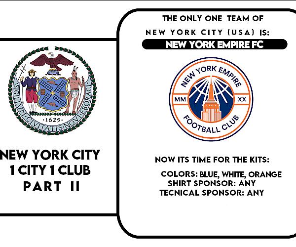 1 CITY 1 CLUB - NEW YORK CITY - PART II - KITS