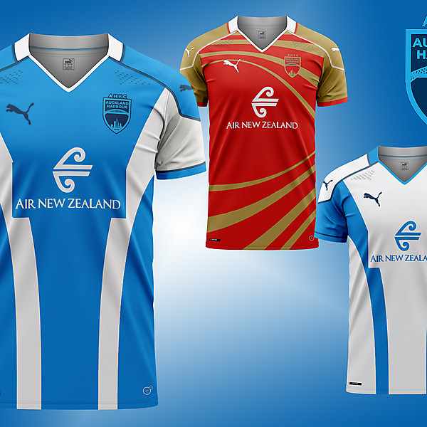 Auckland Harbour 1 city 1 team Home, away and change  concept kits