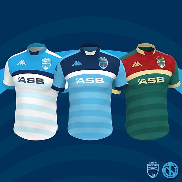 Auckland Harbour | Home, Away and Third Kits