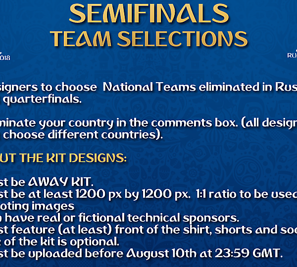 [Semifinals] Team Selections