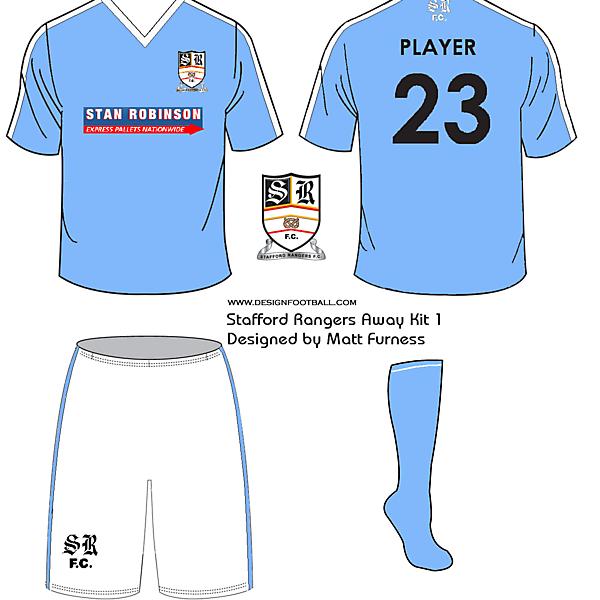 Stafford Rangers F.C. kit designs