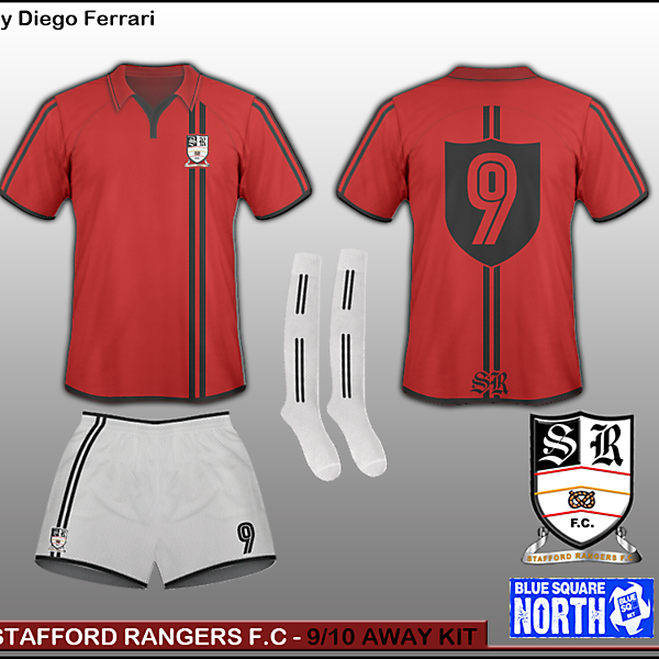 Stafford Rangers - 9/10 Away kit
