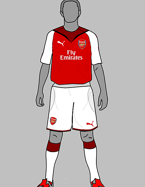Arsenal home and away made with puma v template n my new tempalte