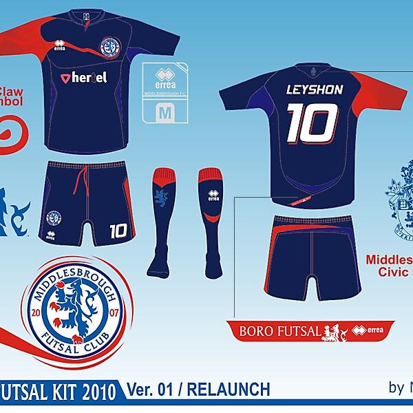 Middlesbrough Futsal Club Kit - Version .01 Relaunch