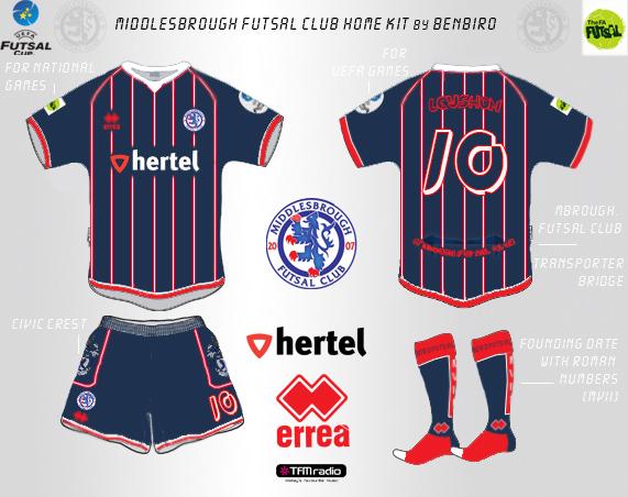 #3 - Kit Design Contest - Middlesbrough Futsal Club (closed)