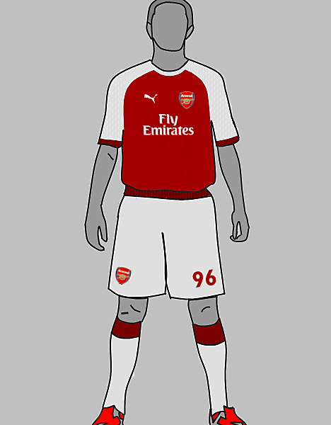 arsenal kit just 2 test out my new template tell us wot u fink n wot i cud improve