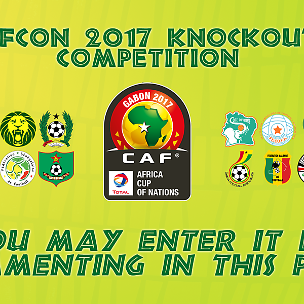 AFCON 2017 Knockout Competition