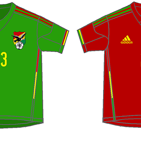 Bolivia - adidas home & away