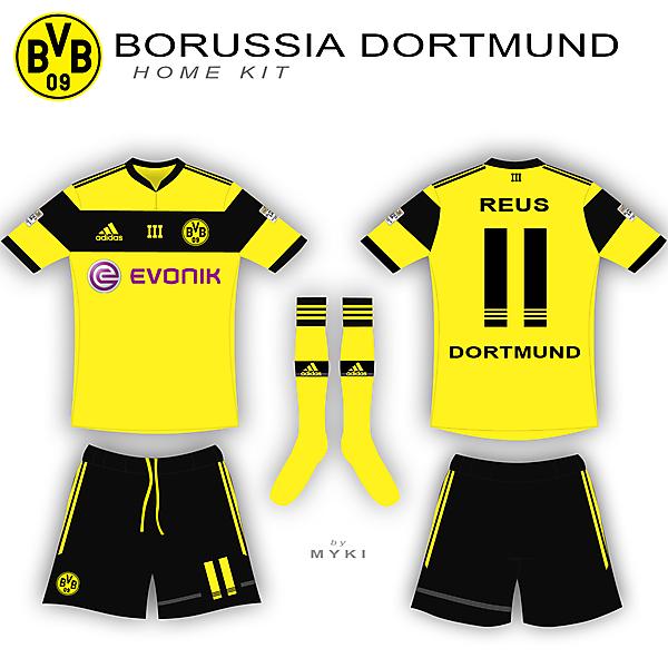 Dortmund Home Kit - Adidas
