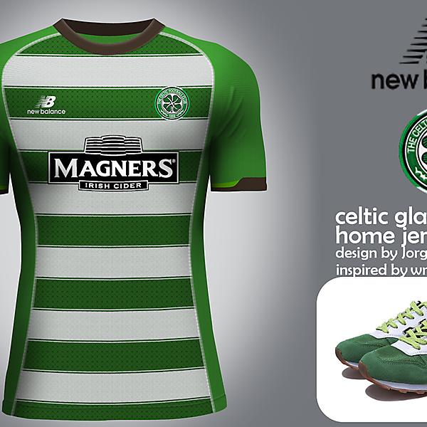 Celtic Glasgow New Balance home jersey
