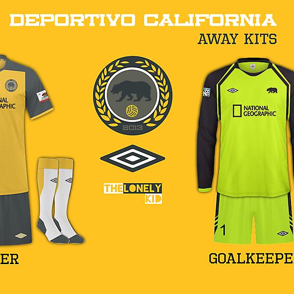 Deportivo California Away Shirts