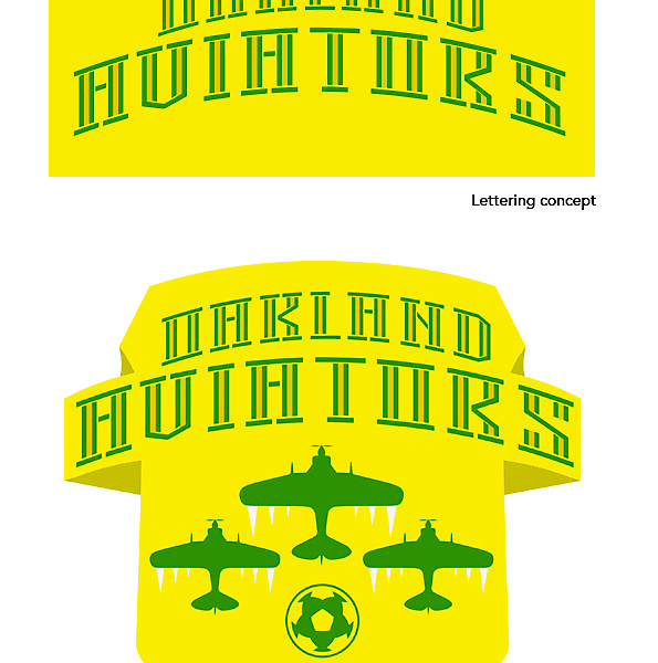 Oakland Aviators logo and lettering concept