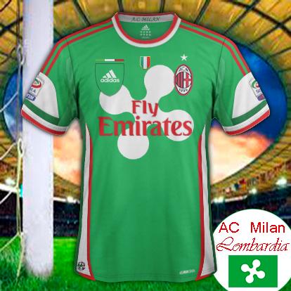 AC Milan Flag Lombardia Region