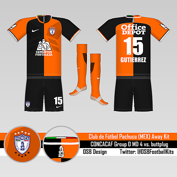 C.F. Pachuca Away Kit - Round 4