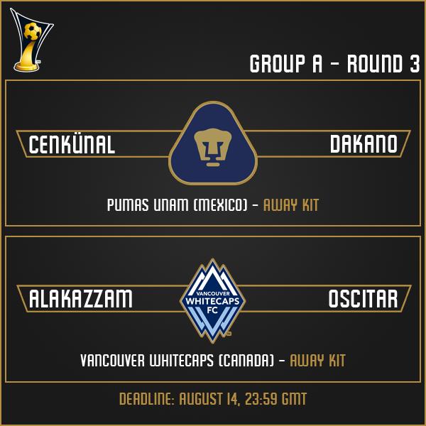 Group A - Week 3 Matches