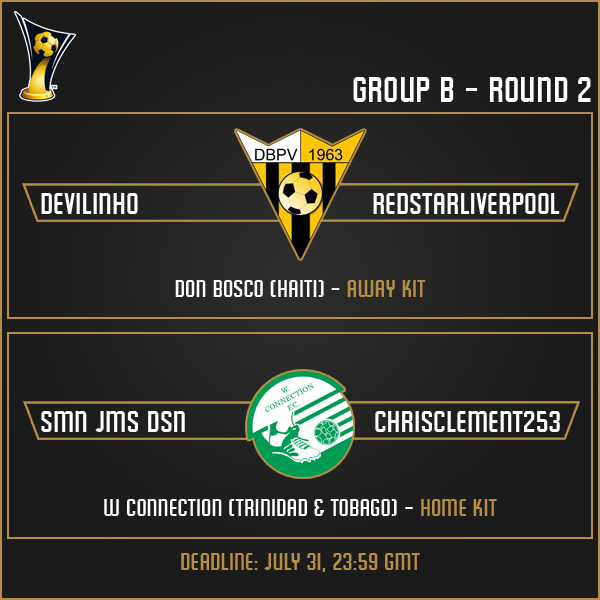 Group B - Week 2 Matches