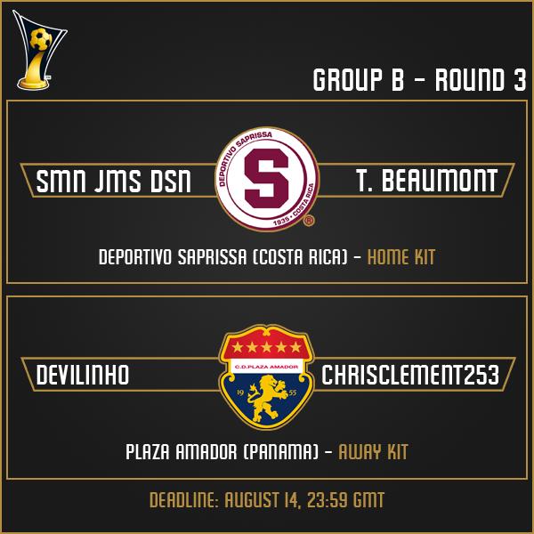 Group B - Week 3 Matches