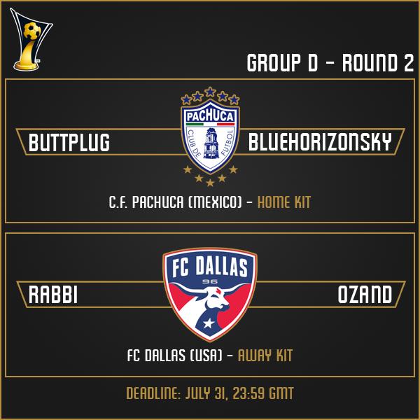Group D - Week 2 Matches