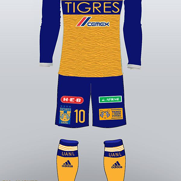 Tigres UANL 2017/18 Home Kit by NACH0S