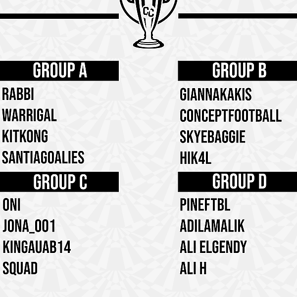 Concept Cup Groups