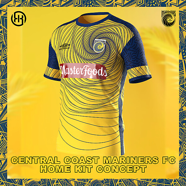 Central Coast Mariners FC   Home kit concept