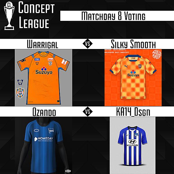 Premier League/Second League Matchday 8 Voting