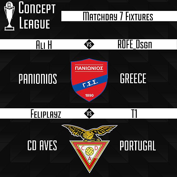 Second League Matchday 7 Fixtures